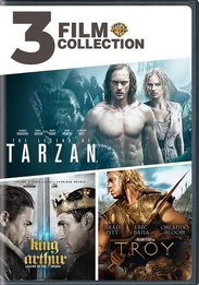 3 Film Collection: Legend Of Tarzan / King Arthur / Troy